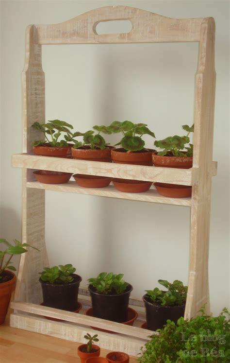 meuble pour plantes d intérieur diy etag 232 re pour plantes le de b 233 a