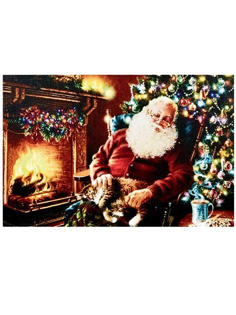 light  christmas canvas scene led fibre optic picture