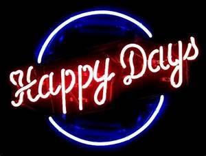 Enseigne Lumineuse Vintage : enseigne lumineuse n on happy days 60 x 45 cm ~ Teatrodelosmanantiales.com Idées de Décoration