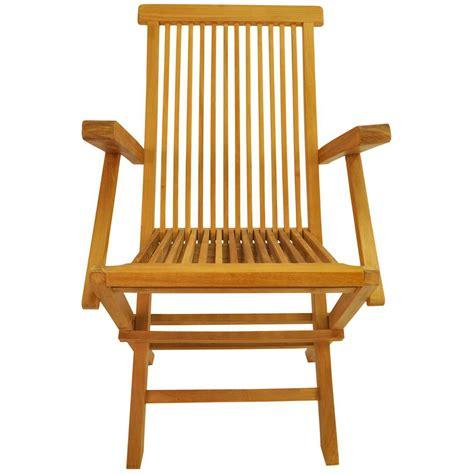 teak classic teak folding patio dining arm chair