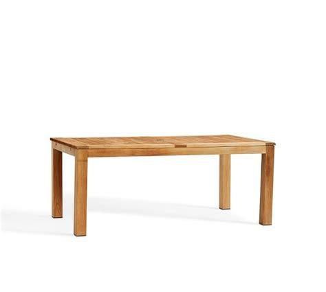pottery barn kirkwood dining table madera teak rectangular extending dining table pottery barn
