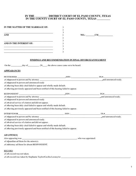 texas divorce forms waiver of service mbm legal