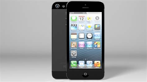 iphone 5 black iphone 5 black edition black silver vray 3d model max