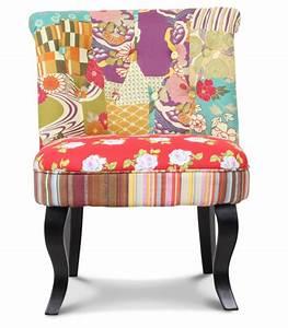 Fauteuil Crapaud Noir : fauteuil crapaud patchwork et pieds en bois noir ~ Preciouscoupons.com Idées de Décoration