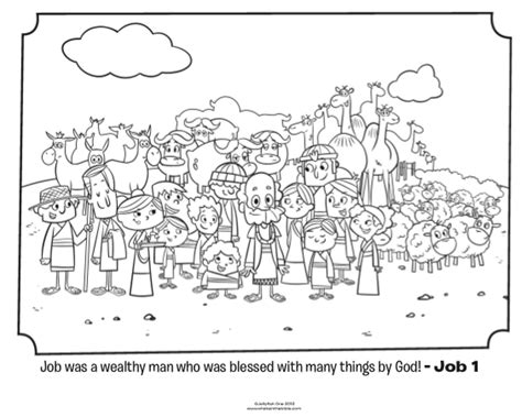 job coloring page whats   bible