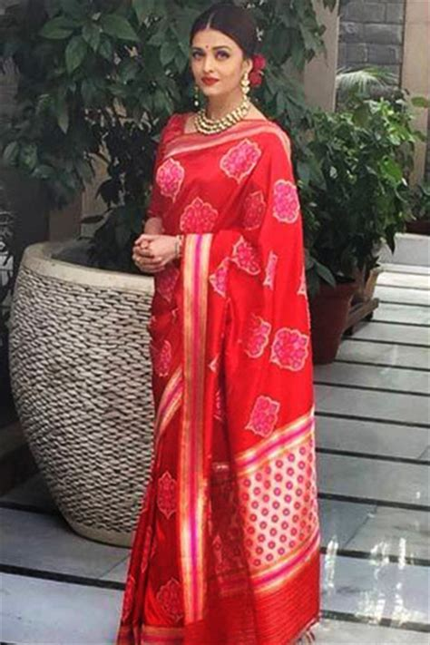 Bollywood celebrities in Red Banarasi