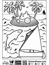 Quiver Sailboat Coloring Zeilboot Segelboot Kleurplaat Kleurplaten Ausmalbilder Votes Stemmen sketch template