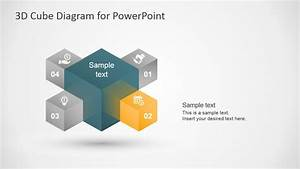 3d Cube Diagram Template For Powerpoint