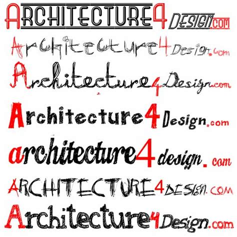 Sketch Fonts For Architectural Lettering Architecture