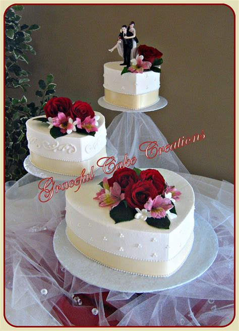 elegant heart shaped wedding cake grace tari flickr