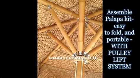 how to build a palapa palapa kit bamboo umbrellas folding thatched palapas bamboo umbrellas bamboo collapsible frame