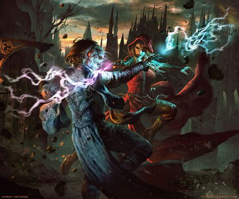 That's Wizard- Card Game Box Cover Art by Manthos Lappas. : ImaginaryWizards
