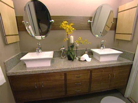 build  master bathroom vanity hgtv