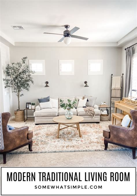 Modern Traditional Living Room (Decor Ideas) Somewhat Simple