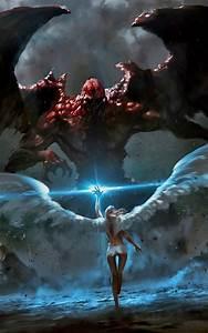 Angels Vs Demons Battle Art | www.imgkid.com - The Image ...