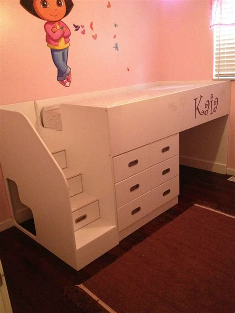 kids bed blueprint woodworking diy plans drawings project