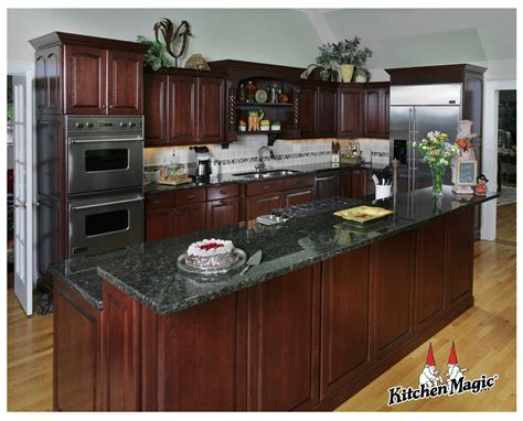cordovan cherry wood cabinets kitchen magic inc