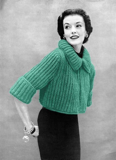 sweater knitting pattern musings from marilyn fab 50s vintage bolero sweater