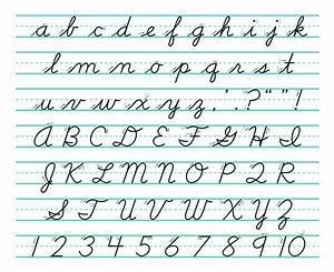 learning cursive handwriting hand writing With real cursive letters