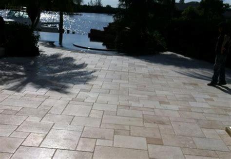 concrete look tile travertine patio tile