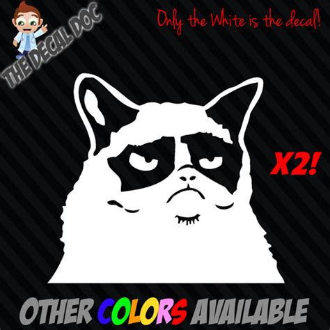 Car Meme Stickers - 2 grumpy cat meme vinyl decal sticker car 5 angry by thedecaldoc