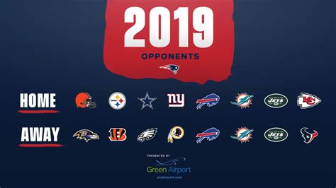 jaguar schedule 2020 patriots 2019 opponents determined total new