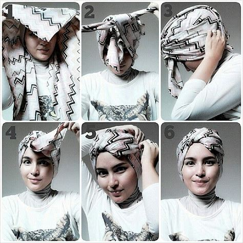 images  turban hijab tutorial  pinterest head