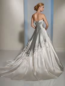 light gray wedding dress colorful bridal gowns color accents bridal gown