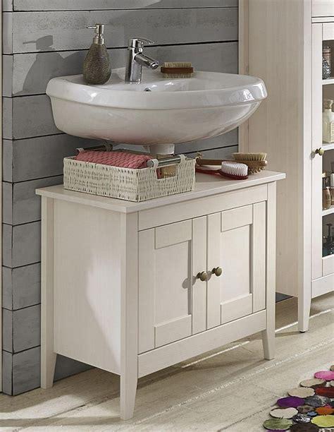 Vertragen waschbeckenunterschränke die feuchtigkeit im badezimmer? Waschtisch-Unterschrank Kiefer weiß lasiert Waschbeckenschrank Holz massiv | Massivholzmoebel ...