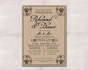 wedding rehearsal invitations wedding rehearsal dinner invitation custom printable 5x7 2274280 weddbook