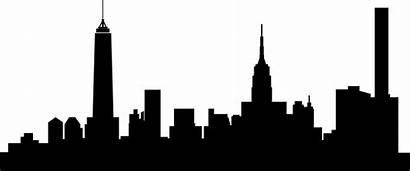 Skyline Silhouette Skyscraper Transparent Clipart Queens Outline
