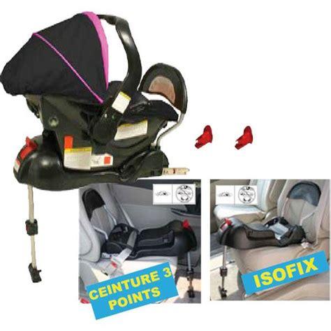 siege auto bebe avec systeme isofix looping base isofix noir achat vente embase siège