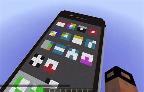 minecraft iphone working iphone created inside minecraft