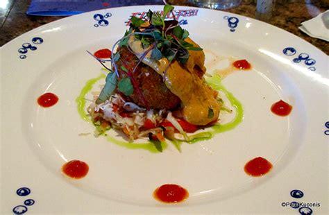 crab cake appetizer flying fish cafe disney s boardwalk inn and resort