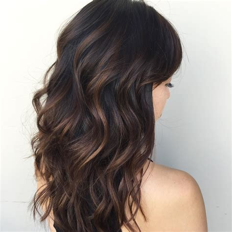 cool  phenomenal dark hair  highlights flattering