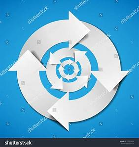 Abstract Vector White Life Cycle Diagram Stock Vector