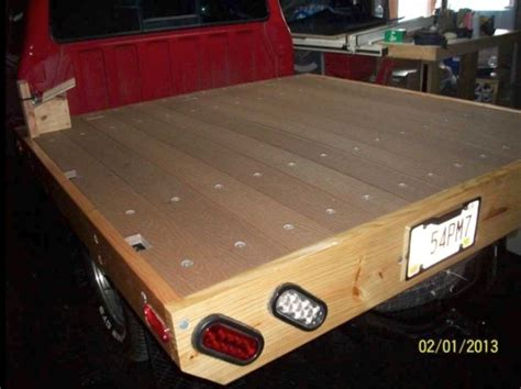 wooden truck bed honcho wooden truck bed build