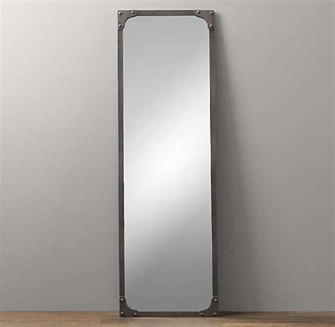 restoration hardware floor mirror industrial rivet leaner mirror 4792