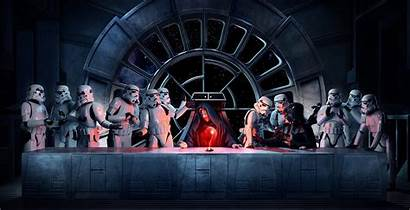 Wars Palpatine Emperor Vader Darth Star Supper