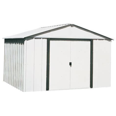 Arrow Galvanized Steel Storage Shed Assembly by Shop Arrow Galvanized Steel Storage Shed Common 10 Ft X