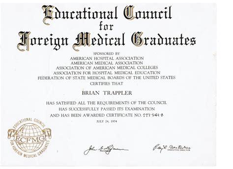 graduation certificates briantrappler md general