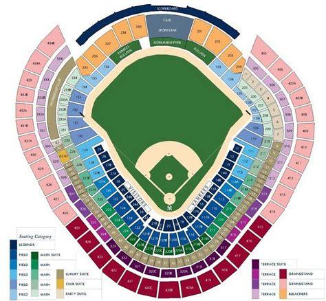 yankee stadium seating chart  york yankees  seat