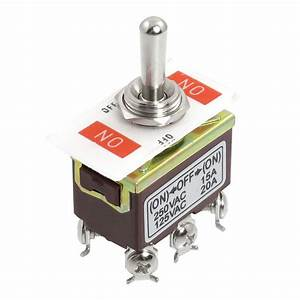 Ac 250v  15a 125v  20a On  Off  On 3 Position Dpdt Momentary