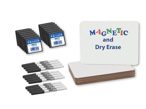 Magnetic Dry Erase Board Class Pack 9 X 12, 12pk