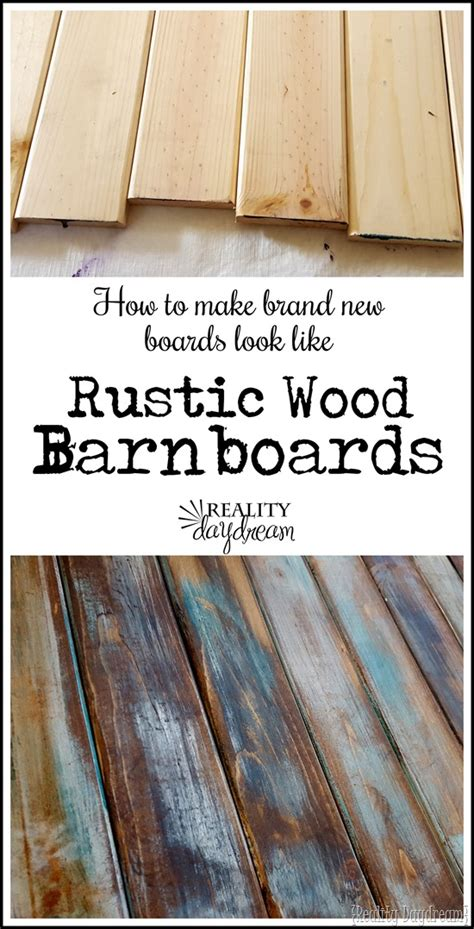 Make New Wood Look Like Old Distressed Barn Boards