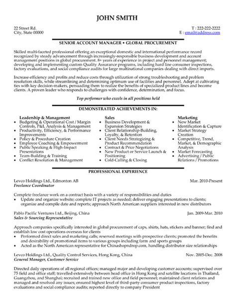 freelance resume sle