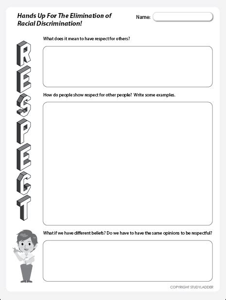 respect worksheet theme based learning skills