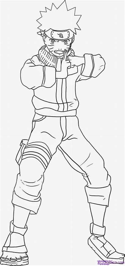Naruto Manga Drawing Sasuke Coloring Vs Random