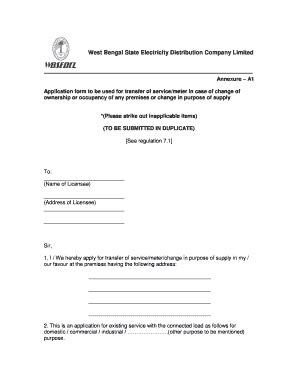 printable complaint letter  electricity meter forms