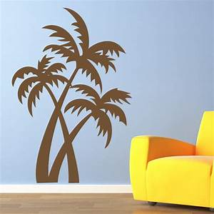 Palm trees at the beach wall art sticker decals